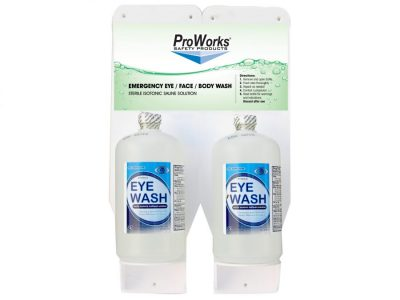 Dual Bottle Eyewash Station